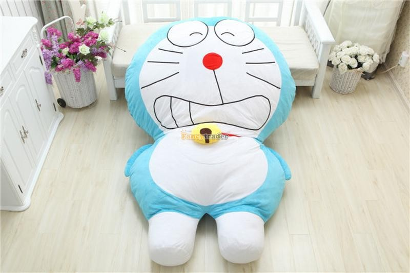 Fancytrader High Quality Doraemon Toy 200cm X 150cm Huge Giant Doraemon Tatami Bed Carpet Sofa, Model 3 Free Shipping FT90270 fancytrader 220cm x 150cm huge giant cute garfield bed carpet sofa tatami great gift free shipping ft90351