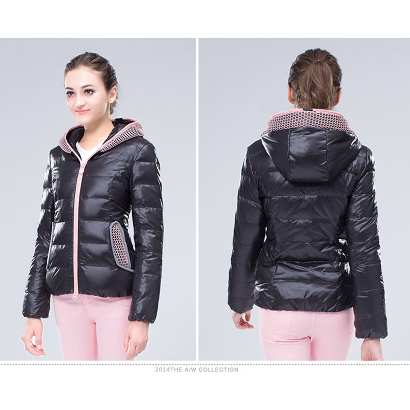 ENGAYI New winter women short style Grey down coat casual solid ...