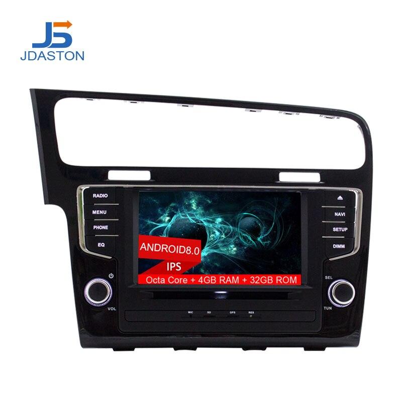 все цены на JDASTON 1 din 8 Inch ANDROID 8.0 Car DVD Player For Volkswagen VW Golf 7 2013-2017 4G Multimedia GPS Radio Navigation Headunit онлайн