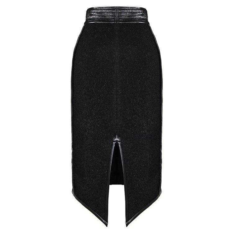 Skirt Nouvelle Black Noir Femmes Hip Solide Aza091 Mode ewq 2018 Split Couleur Jupes Slim D'été Fourche Sexy Tailor made Pack Patchwork dFnqR0