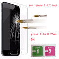 for iphone 7 tempered glass film 0.26mm Screen Protector glass film For Apple iPhone7 glass 4.7inch  free shipping