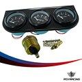 52mm (Oil Temp Gauge+Water Temp Gauge+Oil pressure Gauge Meter With Sensor 3in1 Electronic Triple Gauge Kit Auto Car Meter TAG03