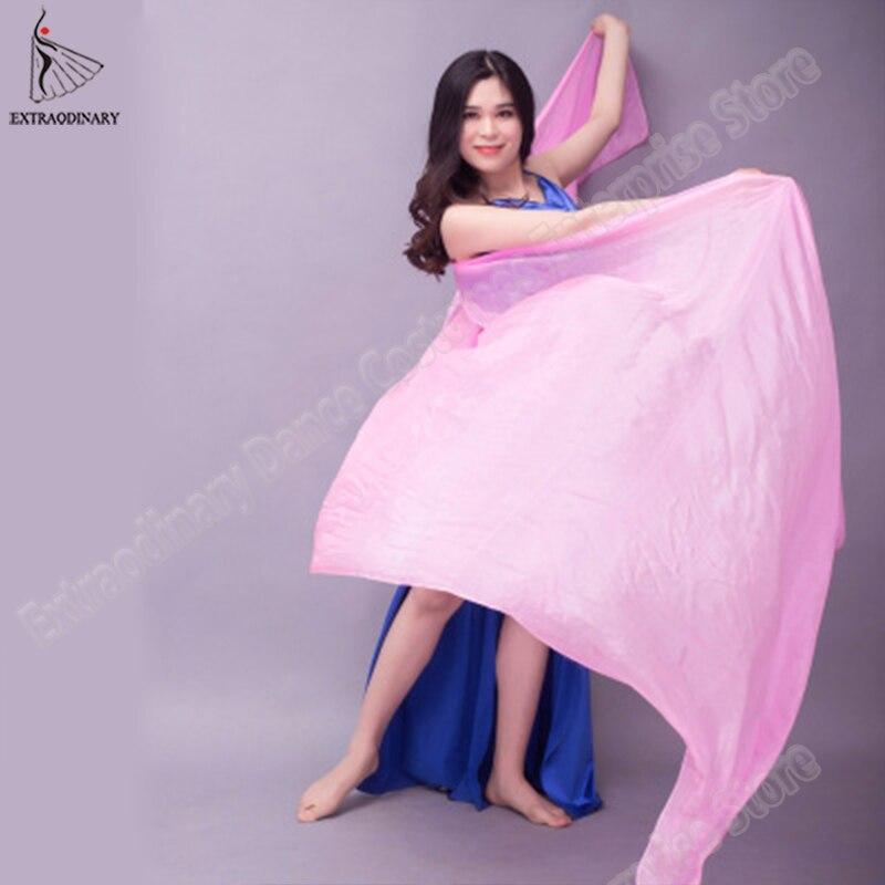 Image 4 - Velo chales para mujer danza del vientre velo de seda textura ligera puesta en escena bufanda de mano accesorios de disfraces 250cm 270cmDanza del vientre   -
