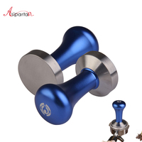 Asipartan Stainless Steel Espresso Coffee Tamper Flat Base Coffee Beans Tamper Coffee Pressure Powder Hammer Barista Tools