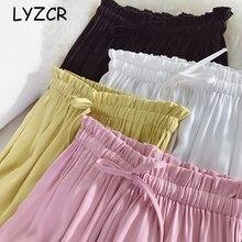 Lyzcr Causal Women's Wide Leg Pants Fema