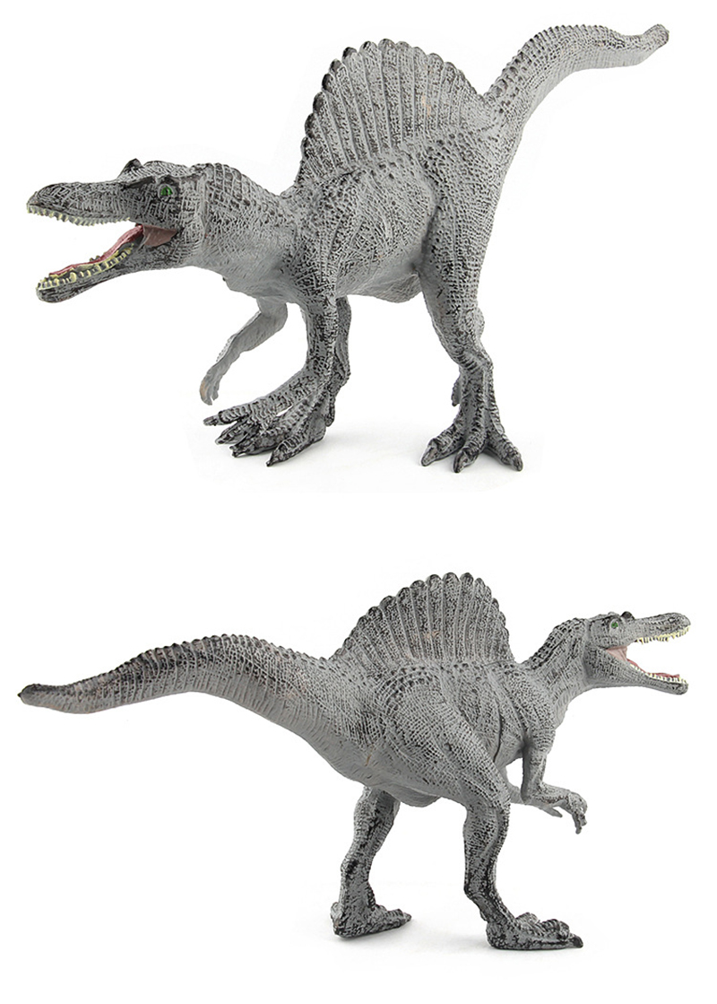 28CM Spinosaurus Dinosaur Toys Action Figure Animal Model Collection Learning Educational Toys Children Gifts Yellow and Grey in Action Toy Figures from Toys Hobbies