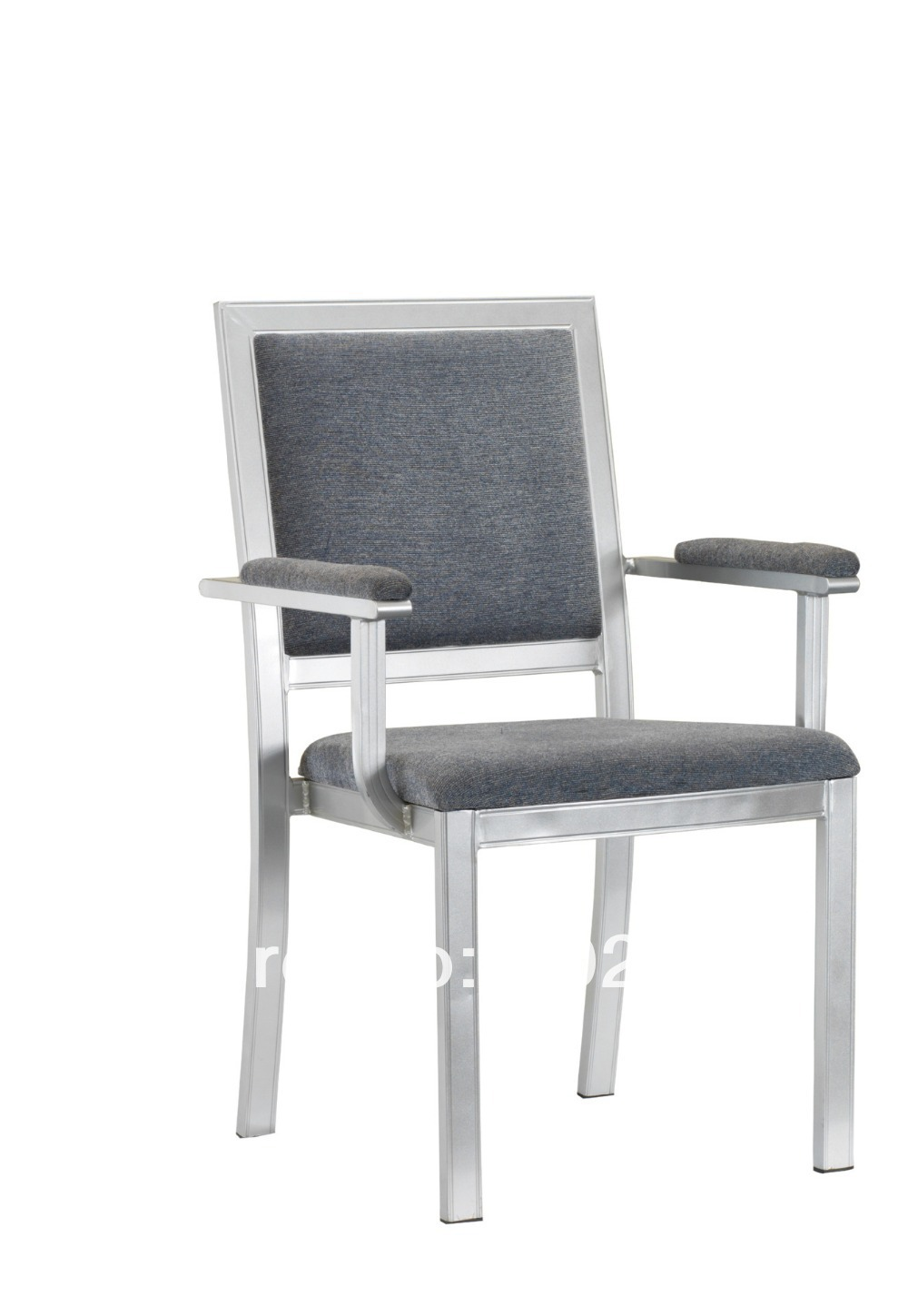 Stackable Wood Grain Aluminum Banquet Armchair,heavy Duty Fabric With High Rub Resistance,comfortable