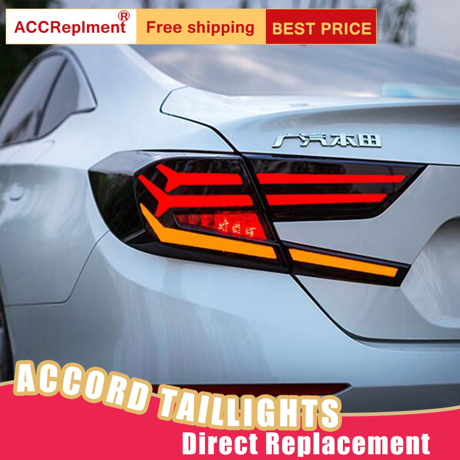 Nouveau LED feux arrière assemblage pour Honda Accord 2018-2019 LED feu arrière frein feu arrière feu arrière feux arrière DRL voiture feux arrière