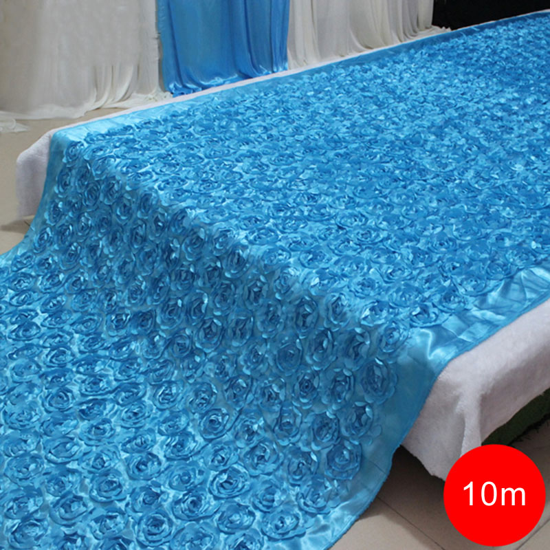 140cmX10Meter Fashion Satin 3D Rose Flower Wedding Aisle Runner Marriage Decor Carpet Curtain Home Decor140cmX10Meter Fashion Satin 3D Rose Flower Wedding Aisle Runner Marriage Decor Carpet Curtain Home Decor