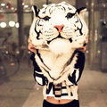 2016 Тенденция голова Тигра мешок Женщин Рюкзак Ежедневно мужчины рюкзаки дизайнер mochila feminina Реалистичные