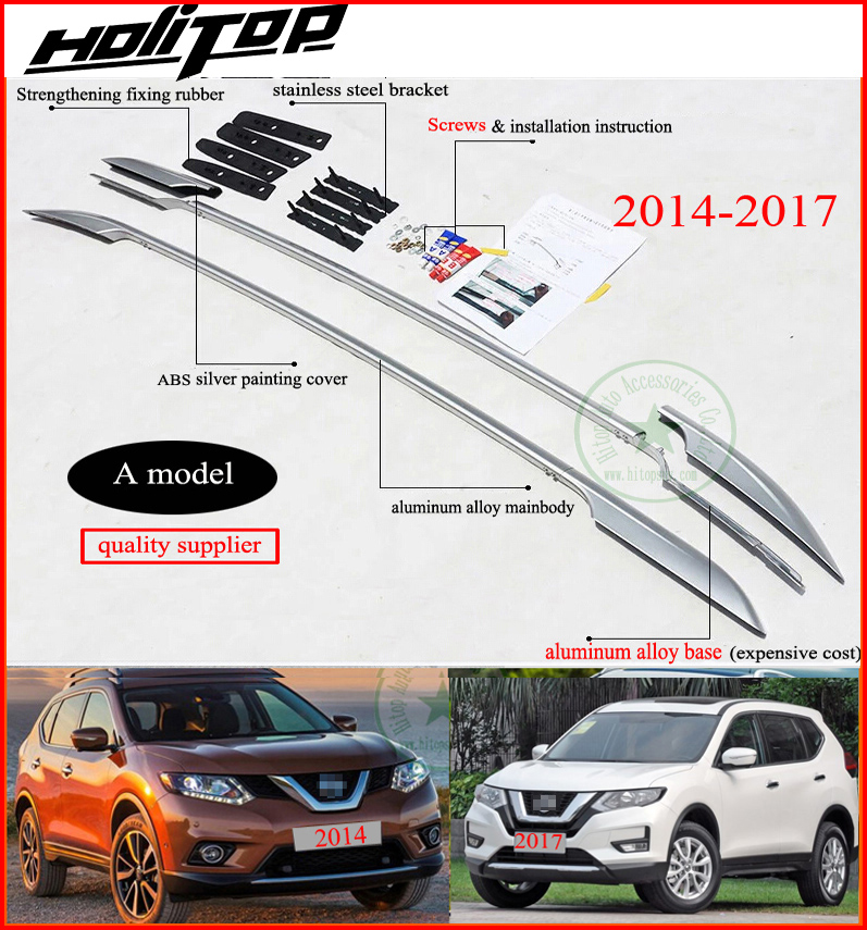 roof rack roof bar rail for Nissan New X trail Rogue 2015 2016 2017 2018 aluminum