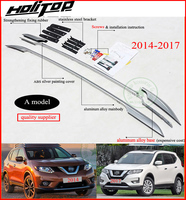 roof rack roof bar rail for Nissan New X trail Rogue 2015 2016 2017 2018,aluminum alloy OE style,3 choices,fix by screw or glue