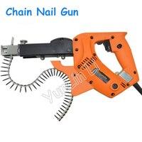 Цепь ногтей Gun автоматическая винт гвоздей машины двойной Применение гвоздезабивной пистолет/сверла деревообрабатывающие украшения инстр