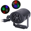 3W Christmas Snowflake Projector 2 Pattern Lens LED Party Light DJ KTV Bar Rotating Stage Lighting Bulb for Xmas Decor