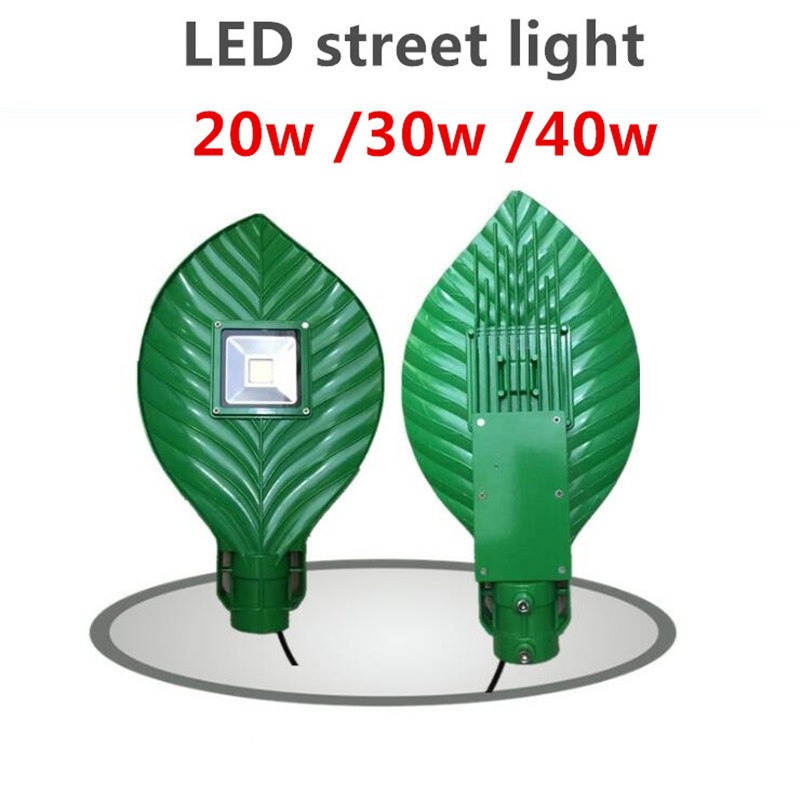 2018 New design 20w 30w leaves street lamp Aluminum shell IP65 AC85-265V Outdoor led street lights 110Lm/W автоинструменты new design autocom cdp 2014 2 3in1 led ds150