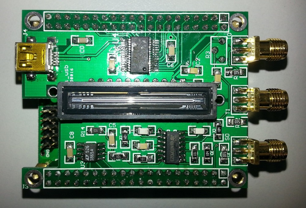 USB Linear Array CCD (TCD1304, 50 Frames / Sec, Integral 200us-20ms/10us-1ms Optional)