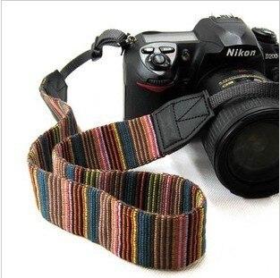Universal cor Stripes suave Camera red Neck alças aperto do cinto para DSLR Nikon Canon Panasonic Sony Pentax