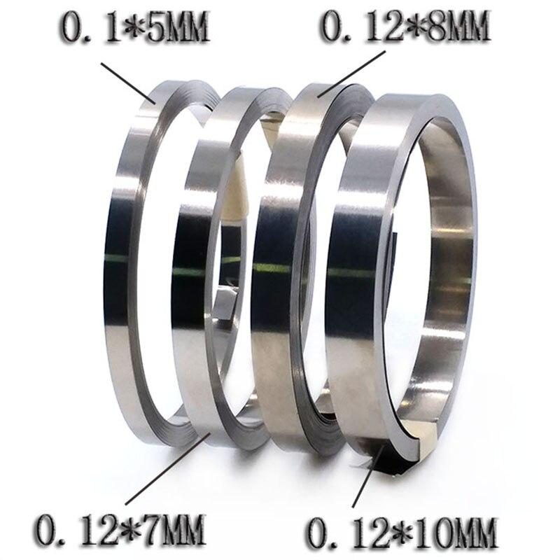 10m 0,12mm 18650 Li-ion batería níquel tira hoja niquelado cinta de acero conector SPCC soldadura punto BMS piezas 7/8/10mm