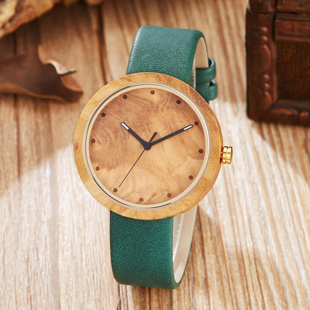 Ladies Christmas Gifts.Us 13 93 30 Off Wood Watch Women Men Casual Leather Strap Quartz Wooden Watch Minimalist Watch Ladies Christmas Gifts Reloj Mujer In Women S Watches