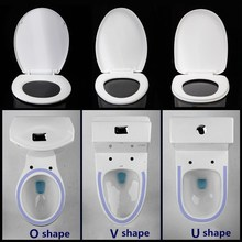Xueqin ABS Thicken Replacement Square Round Universal Slow-Close Toilet Seat Lid Cover Set White Household 3Types Antibacterial
