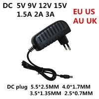 DC 5V 6V 9V 12V 15V 1,5 EINE 2A 3A Universal power adapter AC 100-240V Converter Adapter Ladegerät Netzteil EU US AU UK Stecker