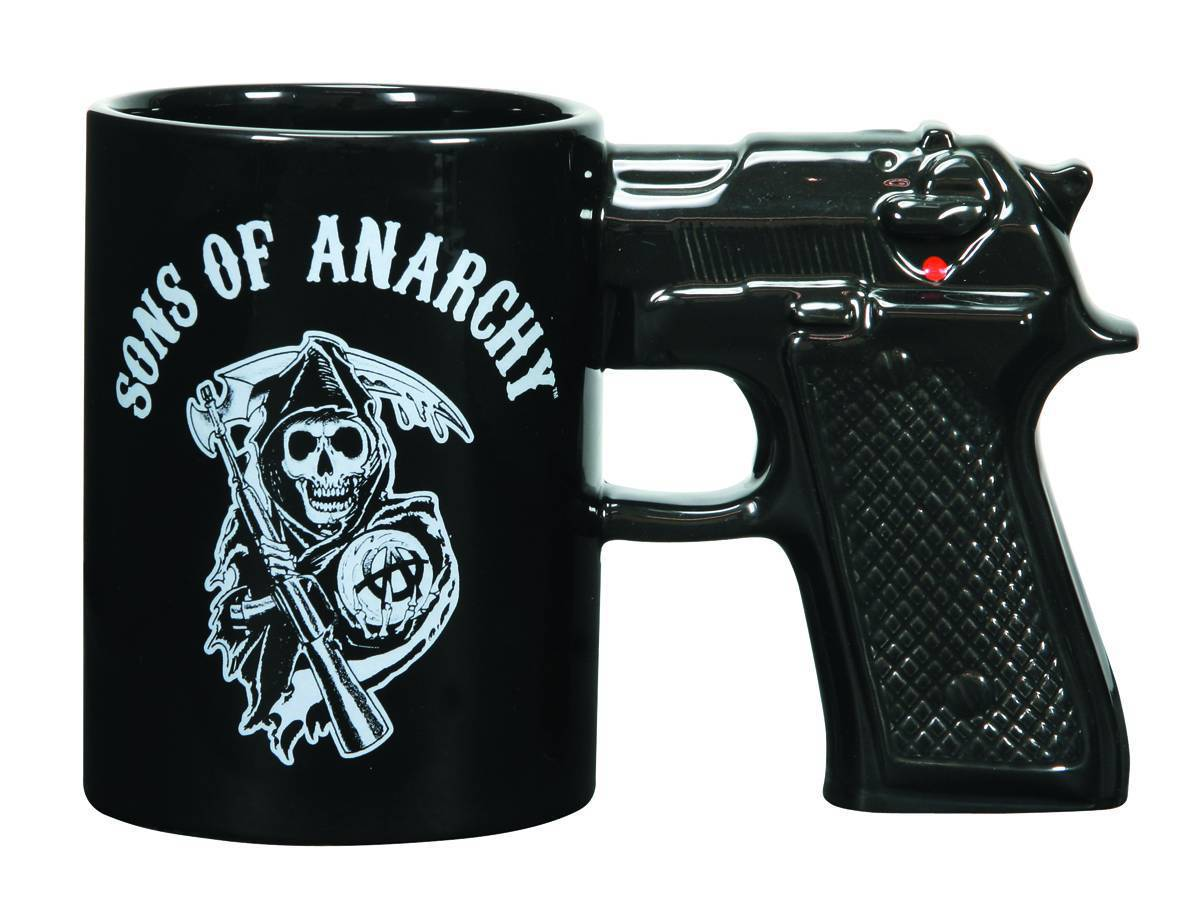 Sons of anarchy gun mug ceramic glaze cup