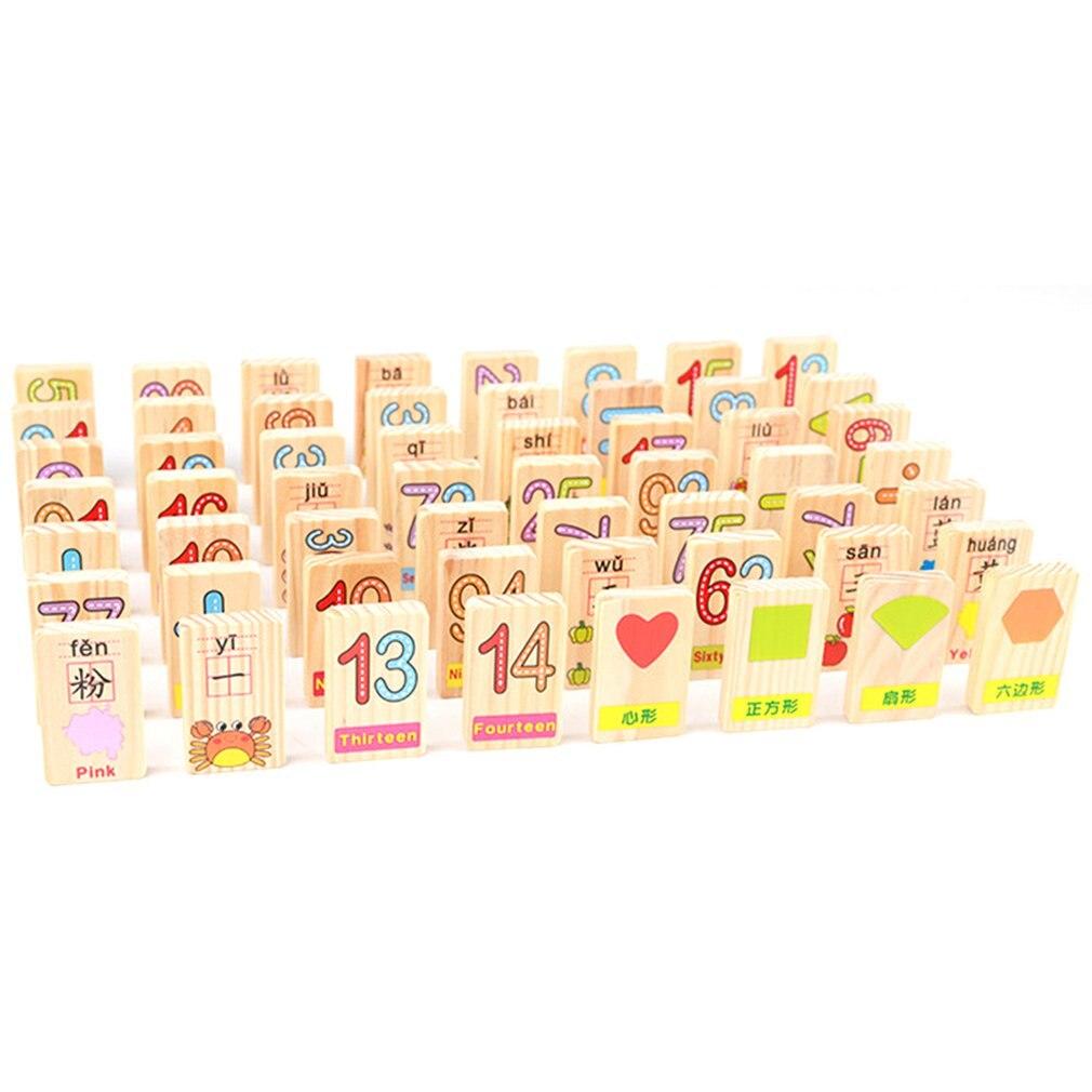 36 pièces carte en bois préscolaire mathématiques nombre calcul jouet caractères reconnaissance blocs de construction pour les nourrissons - 3