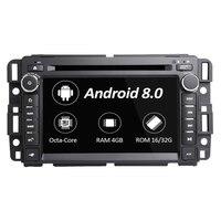 7 Android 8,0 Автомобильный мультимедийный плеер для GMC Yukon TAHOE 2007 2012 автомобильный dvd плеер стерео управление рулем