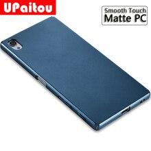 UPaitou Sony Xperia Z5 Premium Ultra Ince Ince Sert PC Mat Sony için kılıflar Z5/Z5 Kompakt/Z5 artı arka kapak