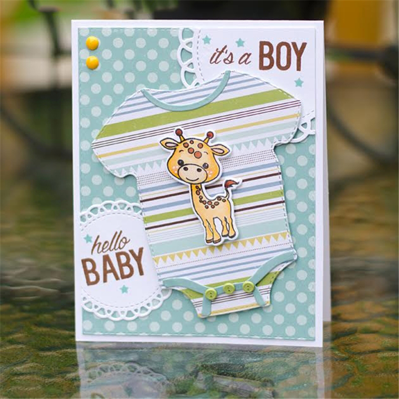 US $1 36 30% OFF|GJCrafts T shirt Metal Cutting Dies for Scrapbooking New  2019 Animal Stamps and Dies Cuts Card Making Elephant Clear Stamps-in