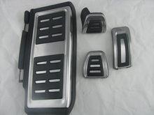 Pédale de Transmission manuelle MT en acier inoxydable, 4 pièces/ensembles 2014, repose-pieds inclus, gaz, embrayage, pédale de frein, pour Golf MK7 7