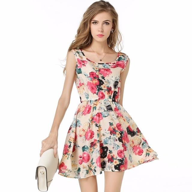 Moda de vestidos en flores