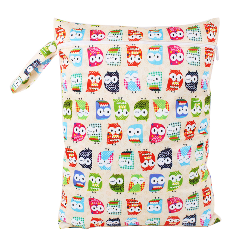 30*40cm Reusable PUL Waterproof Wet Bag Printed Diaper Nappy Bags Pail Liner Laundry Bag Cloth Diaper For Baby