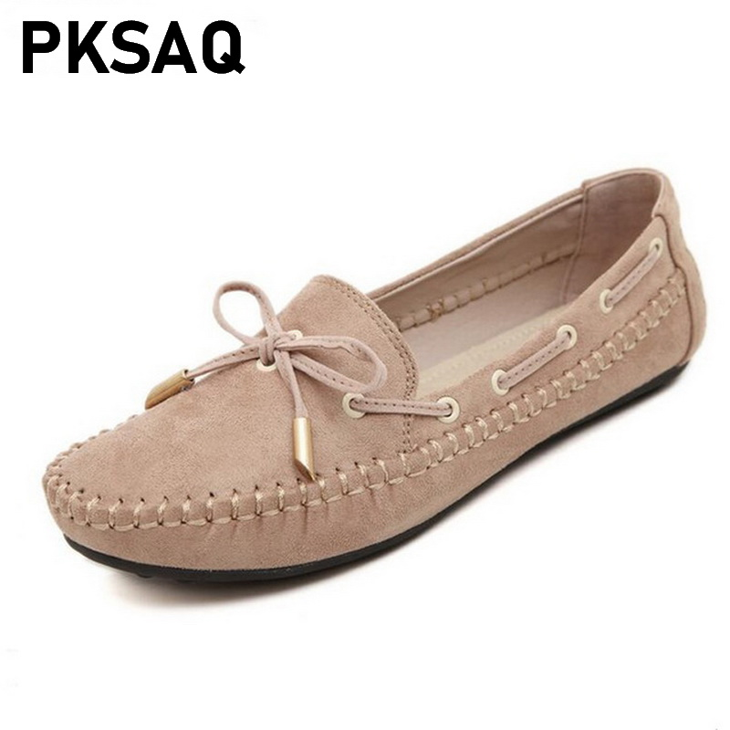 Women Loafers Flats Bowtie Tassel Casual-Shoes Round-Toe Female Fashion Ladies Sweet