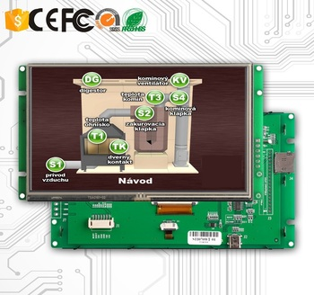 цена на 5 Inch TFT LCD Display Module with RS232/TTL/USB Interface & Controller & Touch Screen