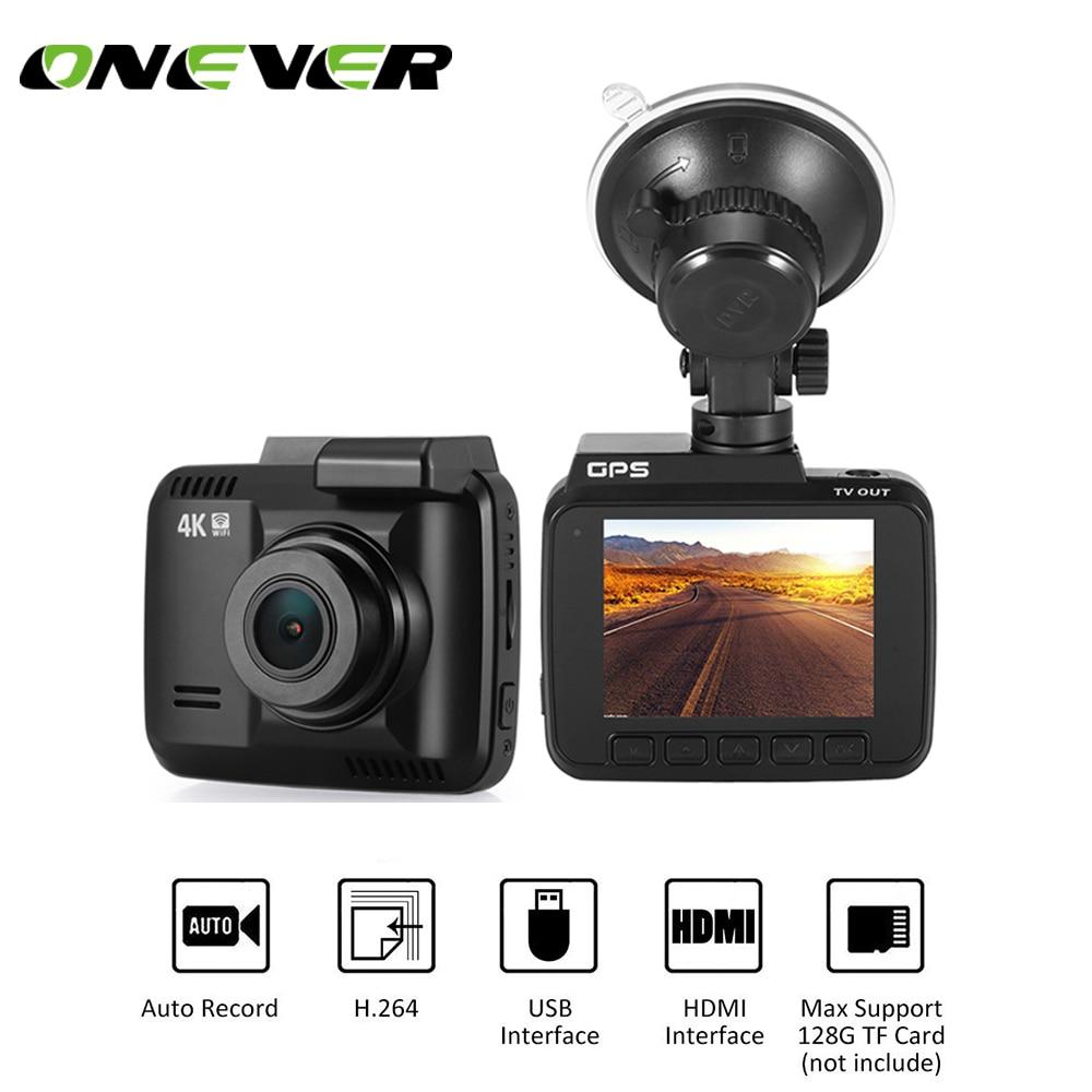 Onever Auto Dash Cam 4 Karat 2880x2160 P Dash Errichtet In Gps Auto Kamera Mit Wifi-sensor Loop-aufnahme Parkplatz Überwachung Bequemes GefüHl