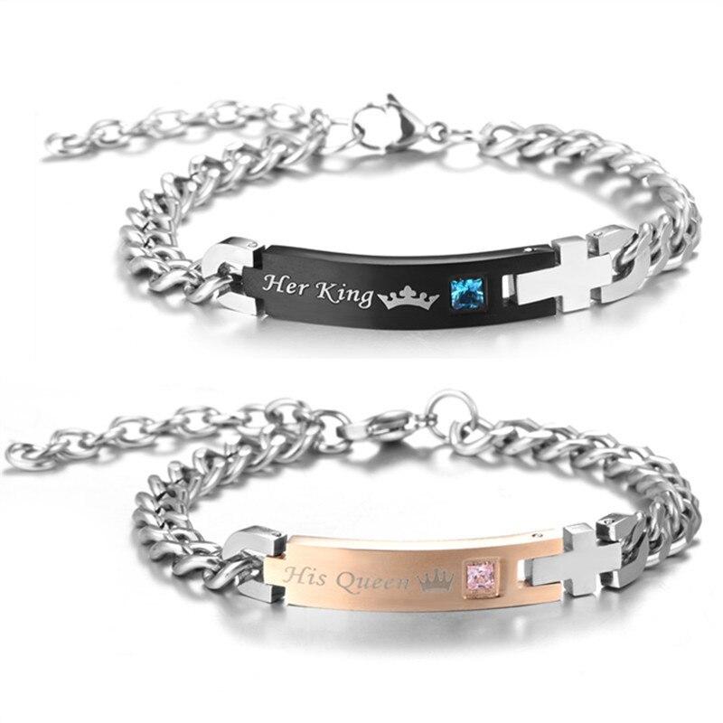 bracelet couple her king he queen