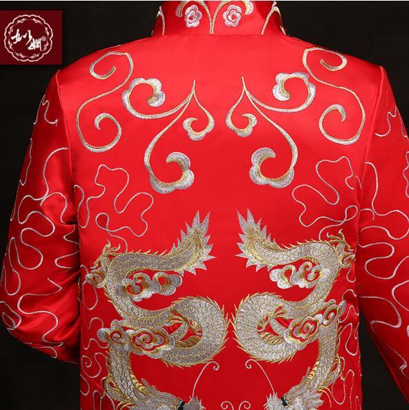 Kineski stil mladoženja vjenčanja duga haljina tang odijelo muško - Nacionalna odjeća - Foto 5