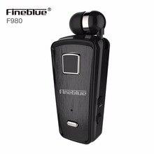 Fineblue F980 Mini Desgaste do Esporte Fone de Ouvido Bluetooth fone de Ouvido Sem Fio Com Mic Handsfree Universal Clipe de ouvido fone de ouvido Auriculares para o Telefone Móvel