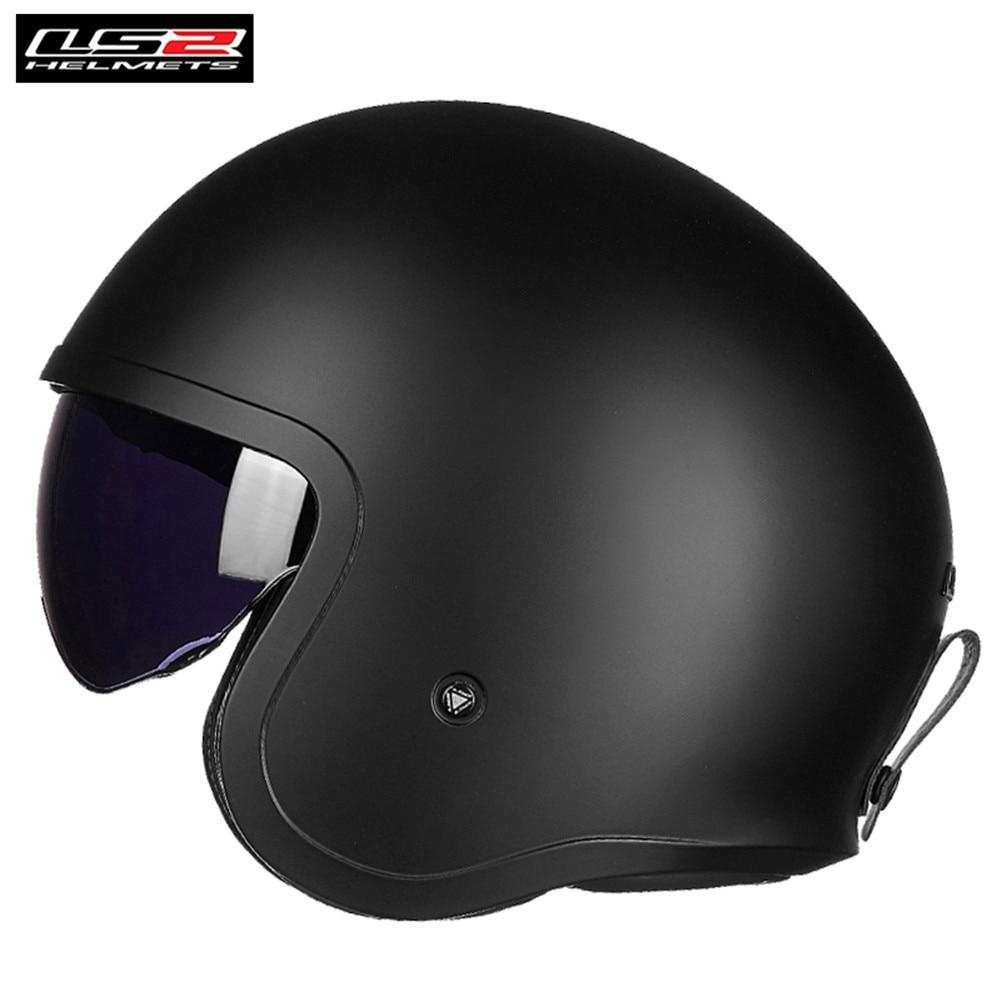 LS2 Spitfire OF599 Motorcycle Vintage Retro Open Face Jet Helmet with Sun Visor Casque Casco Moto Capacetes de Motociclista