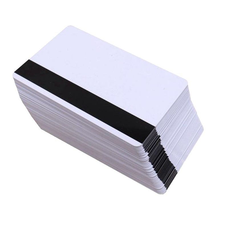 10PCS High Resistance Blank PVC Magnetic Stripe Card 2750 OE Hi-Co 3 Track Magnetic Card For Access Control System