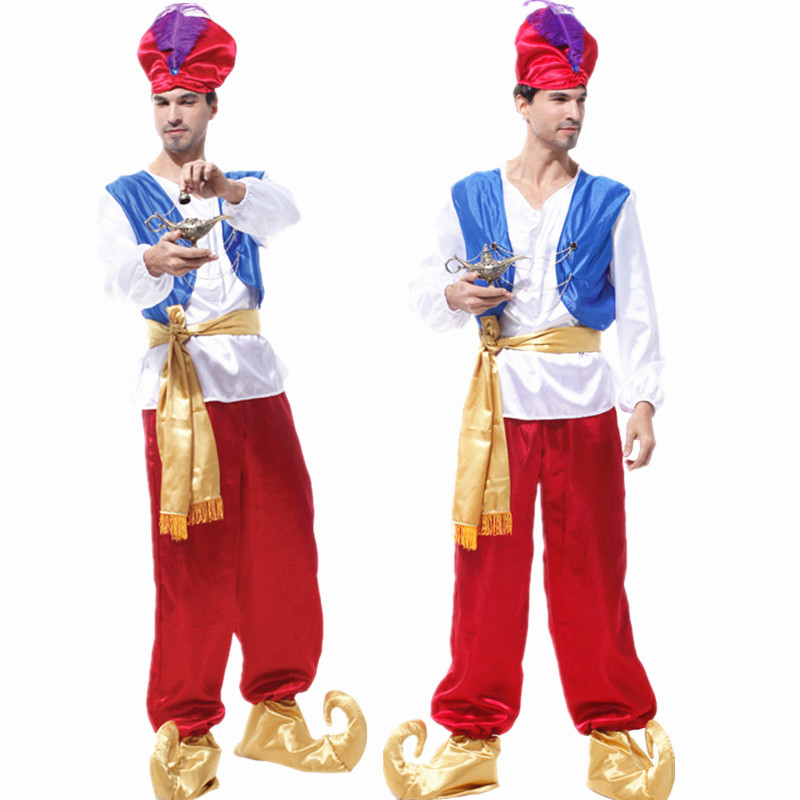 Adult Children halloween party aladdin costumes Aladdin L& genie costume Adam prince Fantasia Boy Party Arab Clothing kid-in Movie u0026 TV costumes from ...  sc 1 st  AliExpress.com & Adult Children halloween party aladdin costumes Aladdin Lamp genie ...