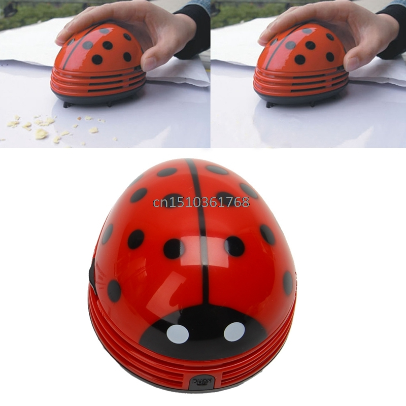 Mini Ladybird Desktop Coffee Table Vacuum Cleaner Dust Collector For Home Office #Y05# #C05# ladybird learners at home