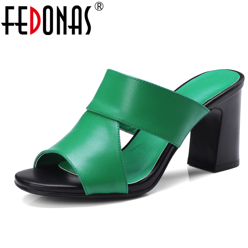 FEDONAS Women High Heeled Genuine Leather Shoes Woman Leisure Lady Casual Sandals Peep-Toe Outdoor Chaussures Female Sandals lady sandals vietnam shoes leather sandals female sandals 2017 outdoor lovers casual summer sandals