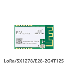 E28-2G4T12S UART SX1280  12.5dbm LoRa BLE Module 2.4 GHz Wireless Transceiver  Long Range BLE rf Transmitter 2.4GHz Receiver ble bluetooth ibeacon technology long range beacon station 210l