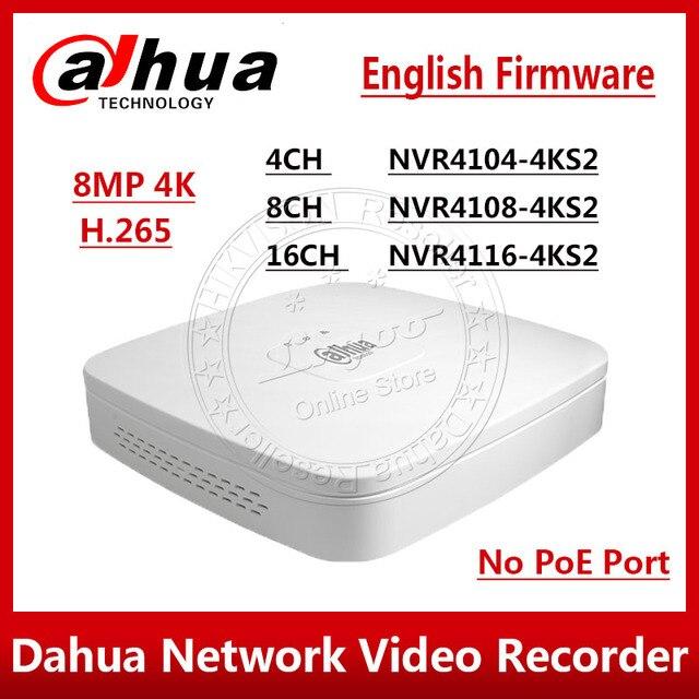 Dahua Original NVR4104 4KS2 NVR4108 4KS2 NVR4116 4KS2 4/8/16 Channel Smart 1U 4K&H.265 Lite Network Video Recorder