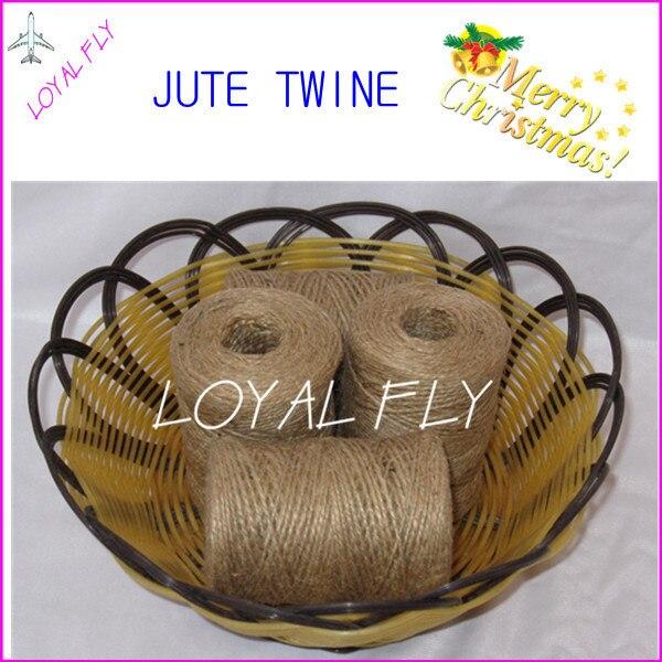 15ks / lot přírodní kutilské motouzy / šňůry pro kutily (1,5 mm) 100 m / jutové lano používané v domácnosti, na zahradě