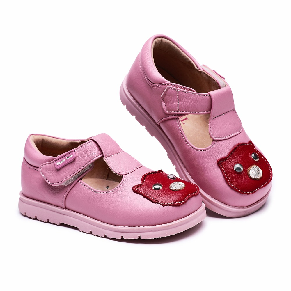 Tipsietoes ブランドかわいい豚シープスキン革子供の学校スニーカー少年少女新 2020 秋春 65101
