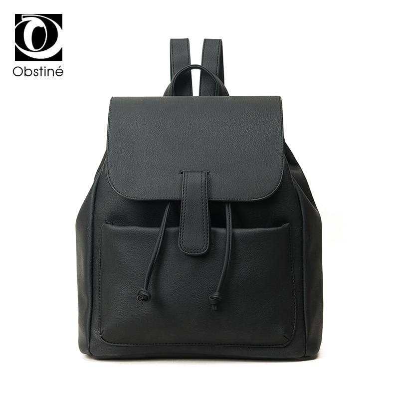2017 New PU Leather Backpack Women Backpack For Teenage Girls Fashion Rucksack Students School Bags
