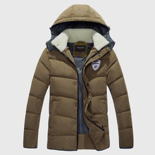 «Оформление Дешевые» Вниз Куртки И Пальто Мужчины Белый Удачи Вниз Мужская Пуховая Куртка С Капюшоном Зима Теплая Человека Вниз Пальто куртки